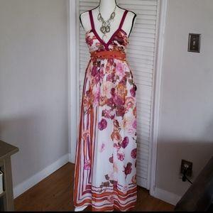 ALBERTO FERRETTI Floral Maxi Dress, Size 2